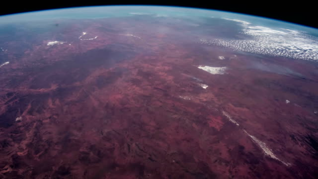 Planet Earth at night seen from the ISS. Elements of this video furnished by NASA. video
