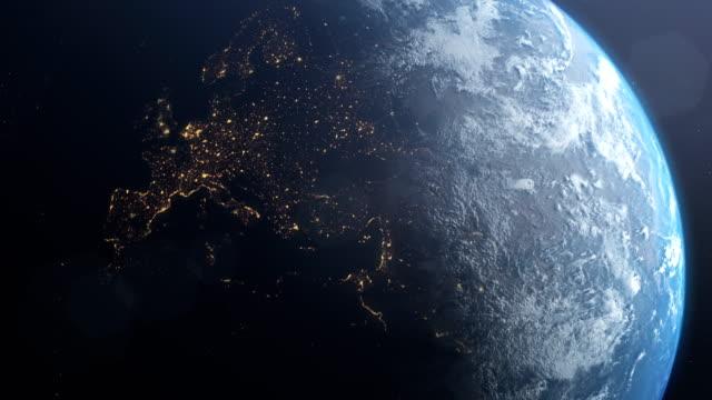stockvideo's en b-roll-footage met planeet aarde. europa. nasa public domain beelden - geologie