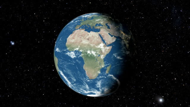 Planet earth from space Planet earth from space. Realistic world globe spinning slowly animation. Camera over Indian Ocean, Africa, Central America. indian ocean stock videos & royalty-free footage