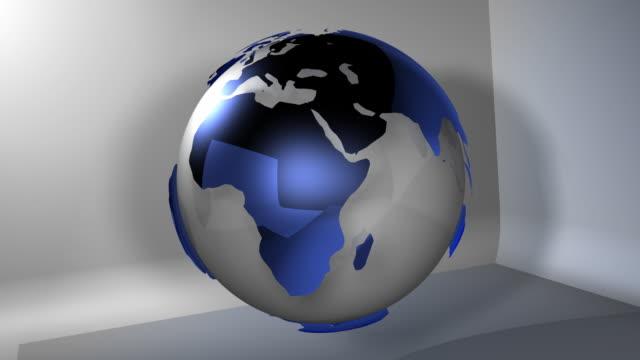 Planet Earth Globe Rotating (HD Loop) video