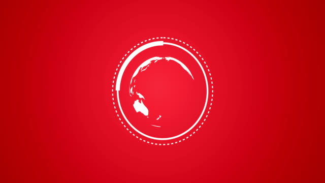 Planet Earth Globe Rotating With Infographic Vector Animation in Red and White Rendered Video Rendered Video of Planet Earth Globe Rotating With Infographic Vector Animation in Red and White earth videos stock videos & royalty-free footage