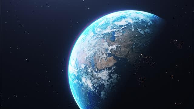 宇宙の惑星地球 - 地球点の映像素材/bロール
