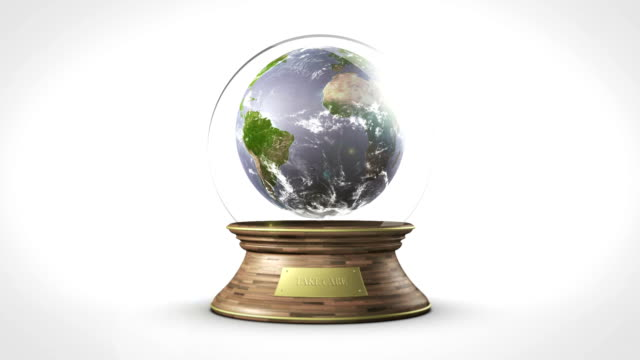 planet earth 내부 저수시설 볼 루프 - home icon 스톡 비디오 및 b-롤 화면