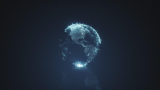 vídeos de stock, filmes e b-roll de gráficos de movimento do planeta terra - planet