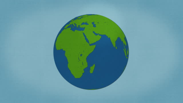 Planet Earth - Organic Paper Stop Frame Style Animation