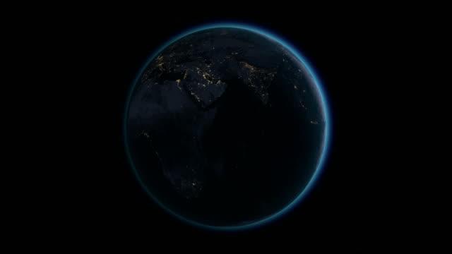 Planet Earth rotates, zoom to Australia 4K Ultra HD video