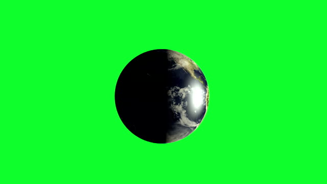 Planet Earth rotating on green screen focus italy Earth rotating on green screen  end on europe www stock videos & royalty-free footage