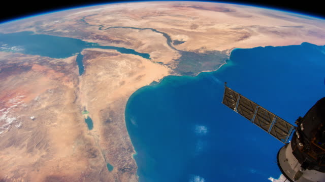 Planet Earth seen from space. Real video. No CGI. Taken from International Space Station Image courtesy of the Earth Science and Remote Sensing Unit, NASA Johnson Space Center. solar panels videos stock videos & royalty-free footage