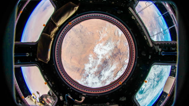 planet earth seen from space. real video. no cgi. taken from international space station - astronomia video stock e b–roll