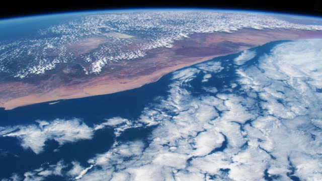 Planet Earth seen from the ISS. Beautiful Planet Earth observed from space. Nasa time lapse shooting earth from space. Elements of this video furnished by NASA. video