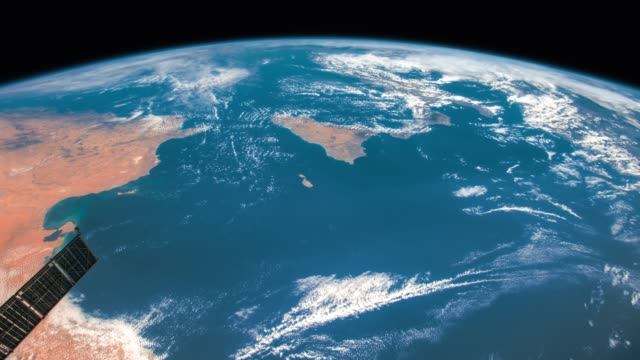 planet earth seen from the iss. elements of this video furnished by nasa. - earth day stock videos and b-roll footage