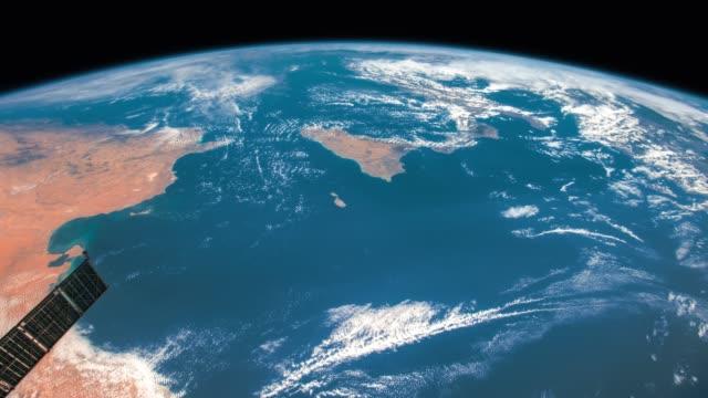 Planet Erde von der ISS aus gesehen. Elemente dieses von der NASA zur Verfügung gestellten Videos. – Video