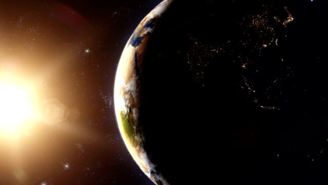 Planet Earth - Sunrise 01 Planet Earth series realistic sunrise animation. covering stock videos & royalty-free footage