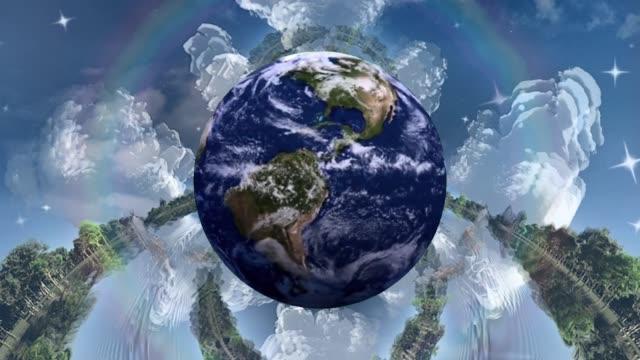 pianeta terra - illusione video stock e b–roll