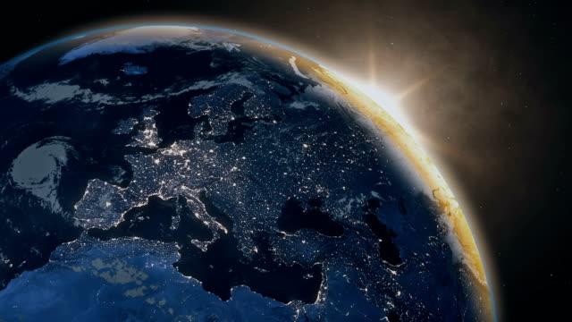 вид планеты земля из космоса - континент географический объект стоковые видео и кадры b-roll