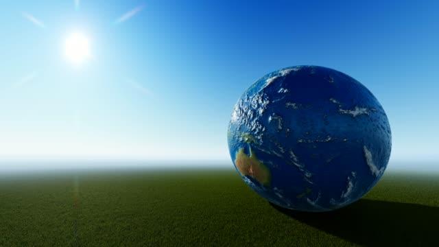 planeten jorden med molnfri bakgrund - ekvatorn latitud bildbanksvideor och videomaterial från bakom kulisserna