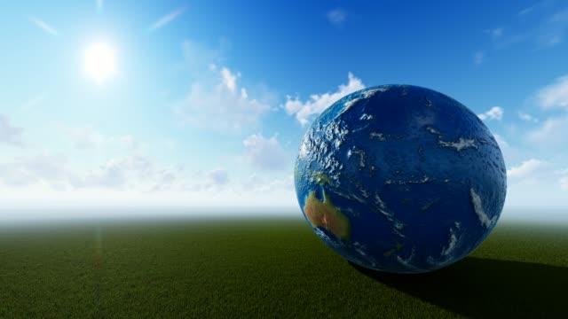 planeten jorden med cloudly bakgrund - ekvatorn latitud bildbanksvideor och videomaterial från bakom kulisserna