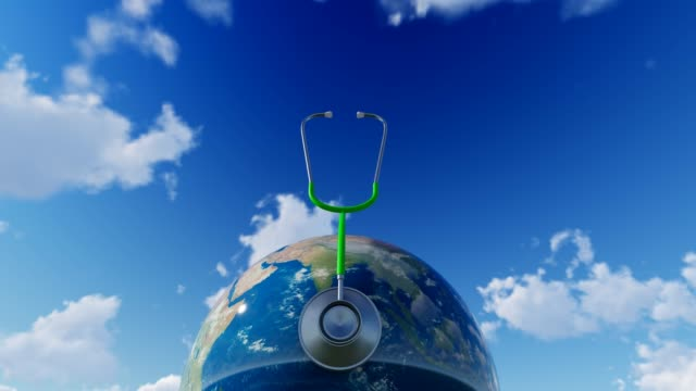 Planet Earth With Sky For World Health Day World Health Day, Day, Healthcare And Medicine, Medicine, Healthy Lifestyle world health day stock videos & royalty-free footage