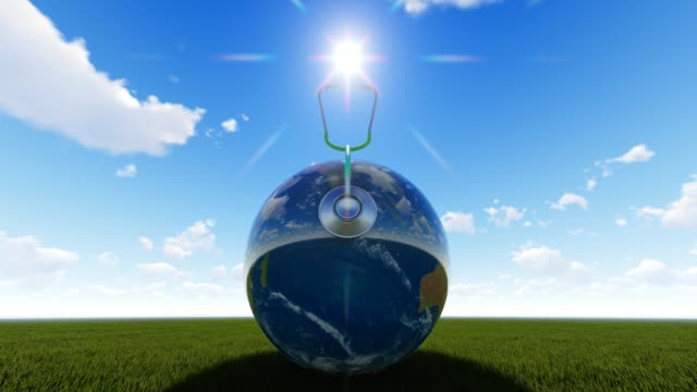 Planet Earth With Sun On Grass For World Health Day World Health Day, Day, Healthcare And Medicine, Medicine, Healthy Lifestyle world health day stock videos & royalty-free footage