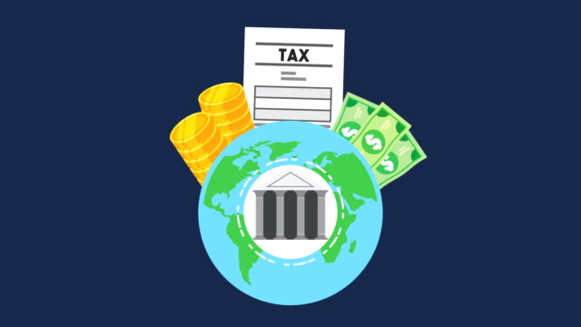 planet earth with tax time set icons planet earth with tax time set icons ,FullHD video animation taxes stock videos & royalty-free footage