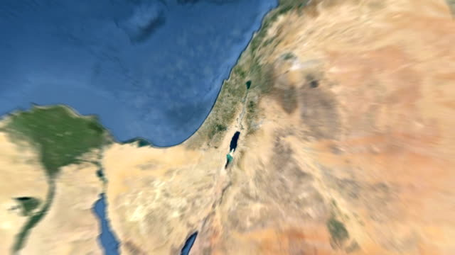 Planet Earth zoom out from Jerusalem, Israel to outer space. video