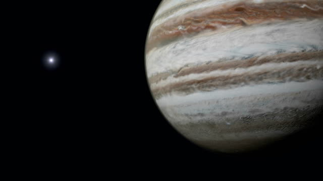 Planet Jupiter and Sun. video
