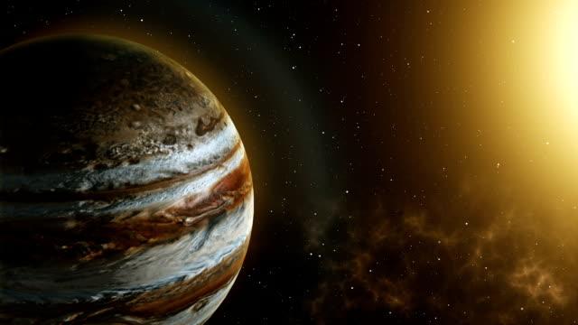 planet jupiter rotation in space - jowisz filmów i materiałów b-roll