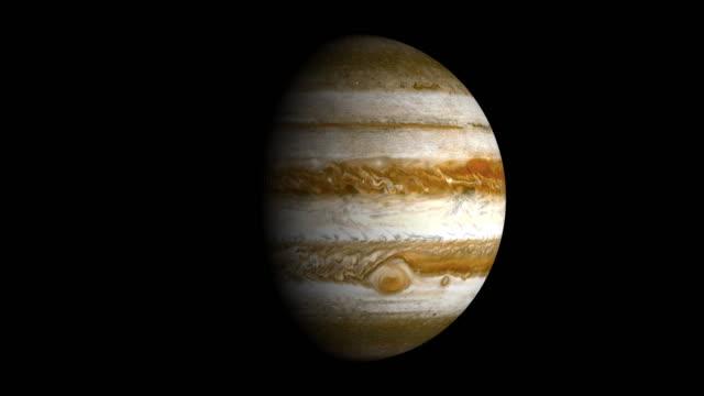 planeta jupiter spin loopable elements izolowane luma matte - jowisz filmów i materiałów b-roll