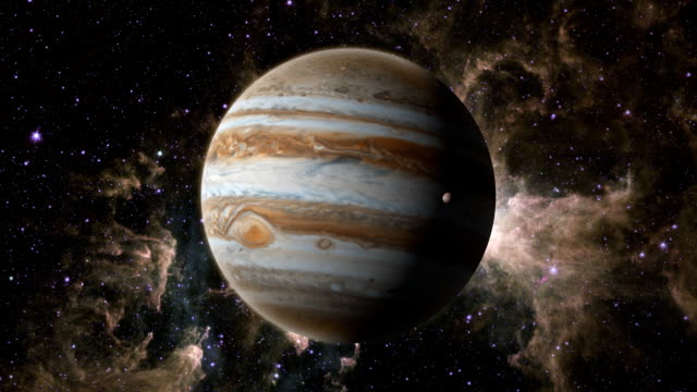 Planet Jupiter with Europa video