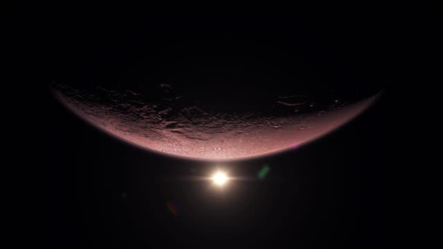 Planet - Mars and Sunrise