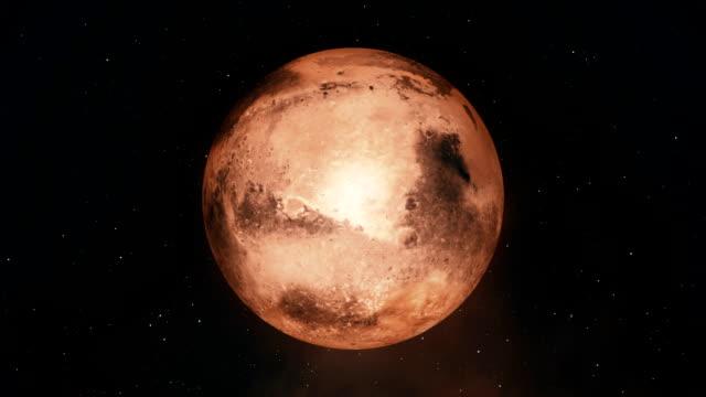 Planet Mars Spinning video