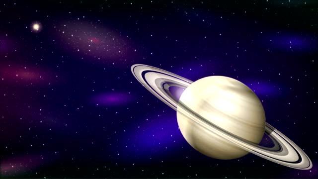 Planet Saturn, Seamless Loop video