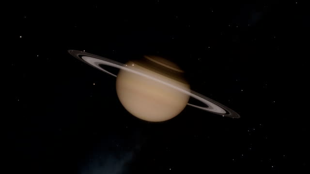 Planet Saturn Timelapse and Flyby Through the Rings video