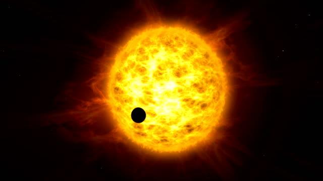 planet transit on sun - venus filmów i materiałów b-roll