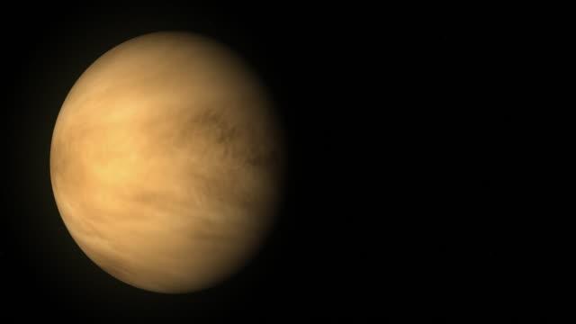 planet venus rotating on its axis - venus filmów i materiałów b-roll