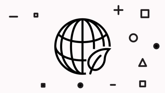 Plant Ecology Single Line Icon Animation