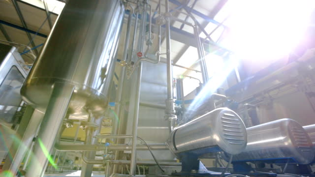 Plant picture, clean room equipment and stainless steel machines Plant picture, clean room equipment and stainless steel machines stainless steel stock videos & royalty-free footage