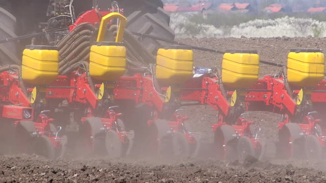 Planting Crops on a Field video
