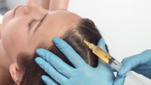Plasma injections for hair | Female patient video