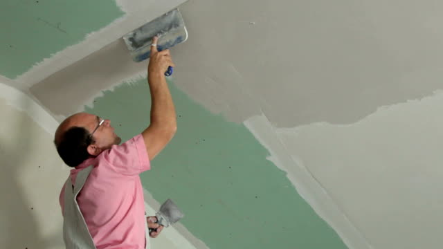 Plasterer At Work video