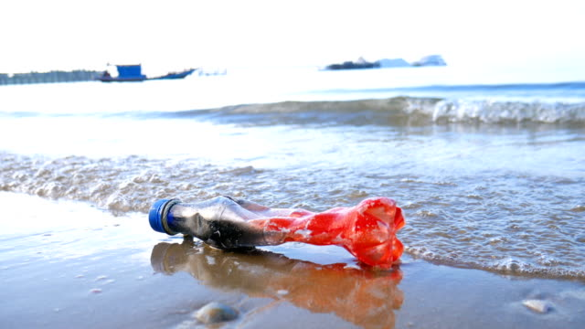 Plastic Bottle Garbage in Sea, Environmental Pollution video