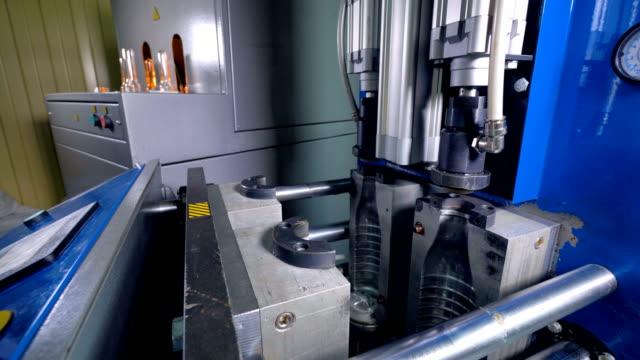 Plastic bottles production. Timelapse. 4K. video