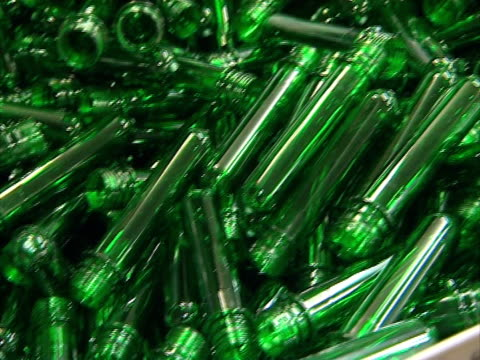 plastic form for pet bottle production. video