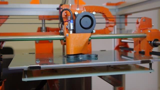 3D plastic printer 3D printing - Three dimensional printer - 3D plastic printer printmaking technique stock videos & royalty-free footage