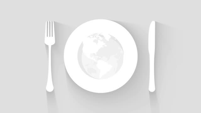 tallrik, kniv och gaffel plats inställningen restaurangkoncept - empty plate bildbanksvideor och videomaterial från bakom kulisserna