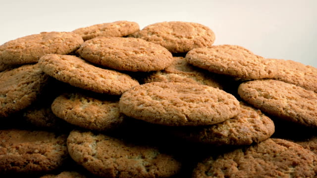 Plate Of Ginger Biscuits Rotating video