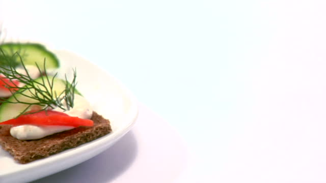 Plate of healthy snacks video