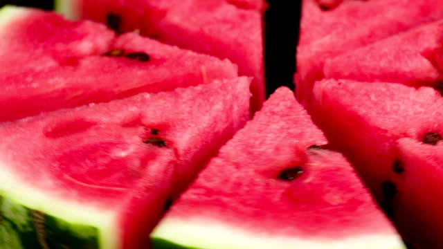 Plate with Slices of Watermelon. Video Loops video