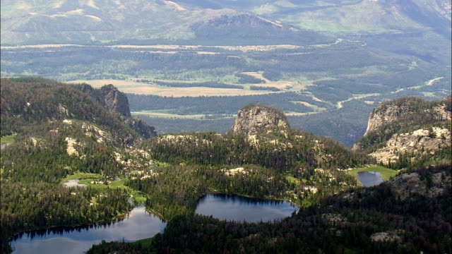 Plateau Above Clarks Fork Yellowstone River  - Aerial View - Wyoming, Park County, United States video