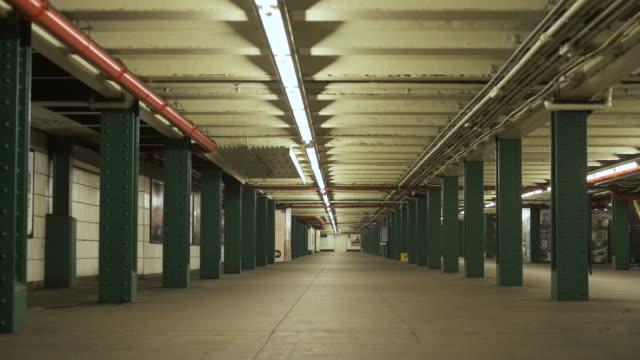 Platform Of Subway Of New York. Underground. Metro Station In New York. No People. new york city subway stock videos & royalty-free footage